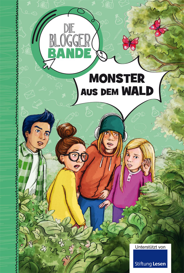 "Cover ""Die Bloggerbande"" Band ""Monster aus dem Wald"""